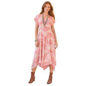 Sundance Avonlea Silk Coral Handkerchief Hem Dress 4